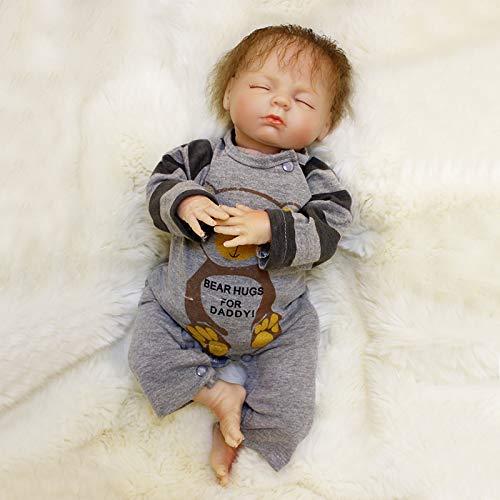 Nicery Reborn Puppen 18 Zoll 40-45 cm Weiche Vinyl und Stoff Schöne Baby Doll für Jungen Mädchen Geburtstag ot45109 - Für 18 Puppen Mädchen