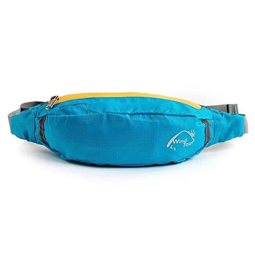 Waterproof Polyester Travel Bag Waist Pouch Bum Fanny Pack Purse Belt Hiking Handy Zip Sport Running Crossbody Phone Bag - Handy Phone Pack