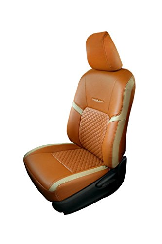 Trend Star Tan and Beige Art Leather Car Seat Cover for Mahindra KUV 100 K8