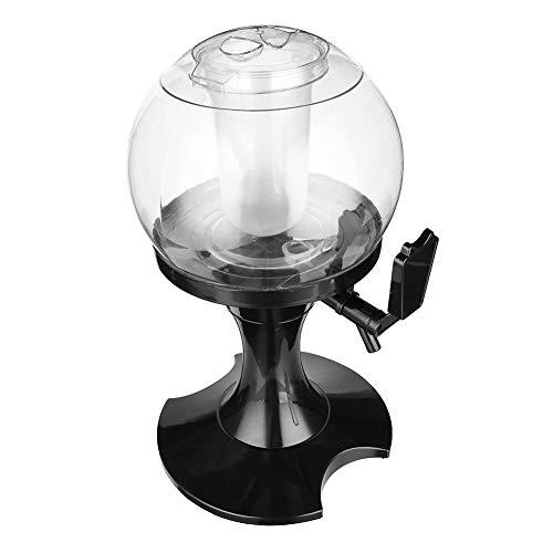 JANEFLY 3.5L Bierturm Getränkespender, Tabletop Bierturm mit separatem Eisfach und Wasserhahn, für Getränke Juice Party Home Bar Giraffe Bierturm,Black - Tabletop-wein Kühler