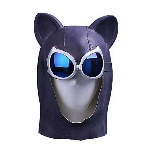 YaPin Catwoman Cat Girl Maske Hood Sexy Catwoman Batman Halloween Videospiel Periphere Props Kopfbedeckungen (Make-up Halloween Cat-girl)