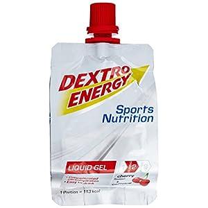 Dextro Energy Gel   18x60ml Liquid Gel Kirsche zum Trinken   Mit Koffein & Dextrose   Energy Drink Alternative   Ideal als Sportgetränk