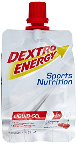 Dextro Energy Liquid Gel Cherry mit Caffeine Box, 18 x 60 ml