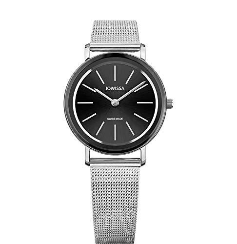 Jowissa Alto Swiss J4.394.M - Reloj de Pulsera para Mujer, Color Negro y Plateado