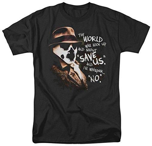 (Watchmen Rorschach Whisper Erwachsene Schwarz T-Shirt (XXX-Large))