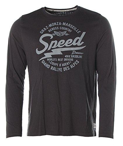 Kitaro Herren Langarm Shirt Rundhals -Graz-Monza-Marseille Speed- Dusty Navy