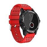 Fulltime E-Gadget Bluetooth Smart Watch, IP67 wasserdicht Aktivität Herzfrequenz-Blutdruck Tracker Nachricht und Anrufbenachrichtigung Uhr (Rot)