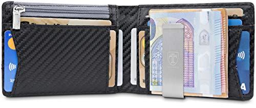 aab1aacf9faaa TRAVANDO Geldbeutel Männer mit Geldklammer Amsterdam Geldbörse Carbon Slim  Portemonnaie Wallet Portm