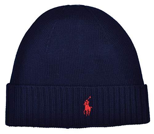 Ralph Lauren Polo Beanie Hat Wool Navy Blue, Blau, Einheitsgröße -