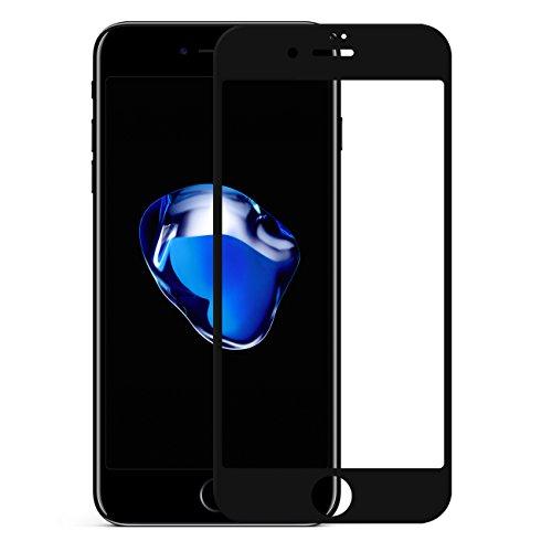 Pomelo Best Panzerglas Schutzfolie für iPhone 7 Plus iPhone 8 Plus Displayschutzfolie 3D Vollständige Abdeckung 99% Transparenz 9H Hartglas (5,5, Schwarz)
