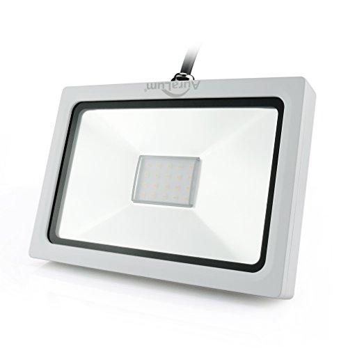 Auralum® Ultraslim 50W 230V Warmweiß LED Strahler Fluter Flutlicht 3700LM IP65 Wasserdicht