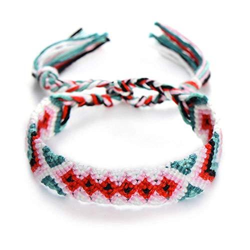 Armband Armreif,Schmuck Geschenk,Boho Nepal Handmade Braided Bracelet for Women Men Beach Dress Ethnic Cotton String Wrap Woven Rope Friendship Bracelets (Tennis-schuhe Strings)