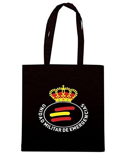 T-Shirtshock - Borsa Shopping TM0292 ume unidad militar emergencias spagna Nero