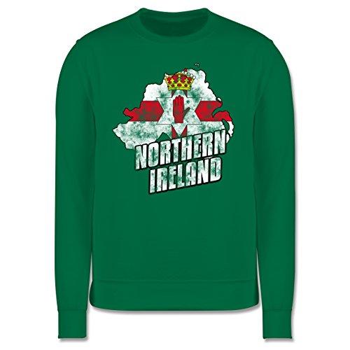 EM 2016 - Frankreich - Northern Ireland Umriss Vintage - Herren Premium Pullover Grün
