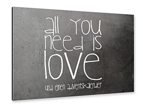 artboxONE Alu-Print 150x100 cm ADVENTSKALENDER SPRUCH NO. 6 von Künstler SUNLIGHT STUDIOS