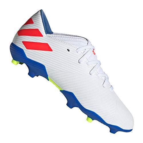 adidas Performance Nemeziz Messi 19.3 FG Fußballschuh Kinder weiß/rot, 35.5 EU - 3 UK - 3.5 US (Adidas Fußball Schuhe Messi Kinder)