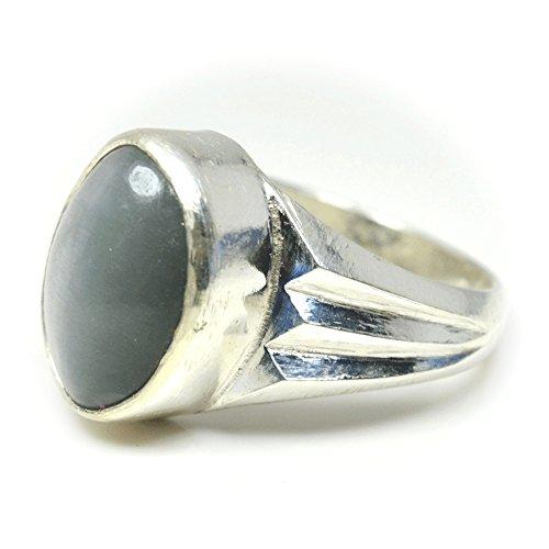 JewelryOnClick Damen -  Nicht zutreffend  Sterling-Silber Ovalschliff    Œil de chat