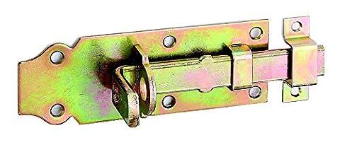 GAH-Alberts Verrou de box ou targette droit, pêne plat avec gâche fixe 120 x 44 mm Surface galvanisée à chaud