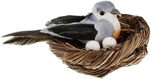 Homyl Figurines d'oiseaux Artificiel Nid d'Oiseau en Mousse Plume  Oeufs d'oiseaux Décor Maison | En Gros