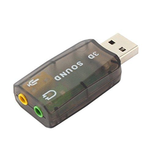 Swiftswan USB2.0 Audio Headset Kopfhörer Kopfhörer Mic Mikrofon Jack Converter Adapter -