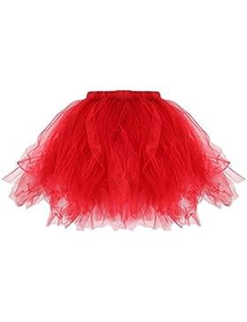 Faldas De Tul Gasa Soplo Danza Ballet LHWY,Falda Del Tutú Del Adulto De Las Mujeres Plisada Tutu Mini Faldas Plisadas