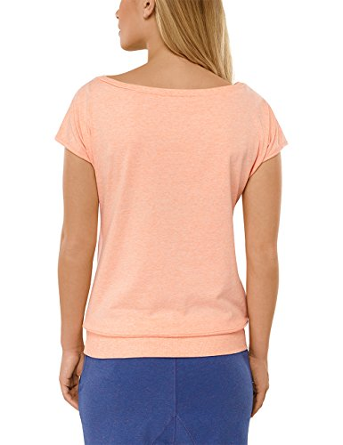 Uncover by Schiesser - longshirt s/sleeves, Camicia da notte da donna giallo (apricot-mel. 611)