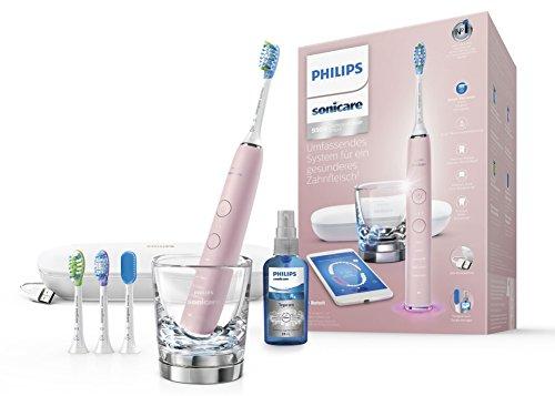 Philips-Sonicare-DiamondClean-Smart-Elektrische-Zahnbrste-mit-Schalltechnologie-HX992443-Ladeglas-USB-Etui