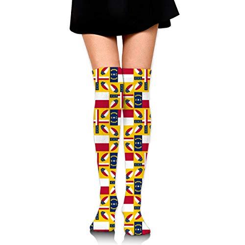 Xdevrbk North Carolina Women's Knee High Socks Fancy Design, Best for Running, Athletic Sports,Yoga.
