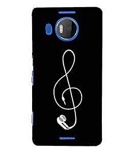 FUSON Treble Clef Vector 3D Hard Polycarbonate Designer Back Case Cover for Microsoft Lumia 535 :: Microsoft Lumia 535 Dual SIM :: Nokia Lumia 535