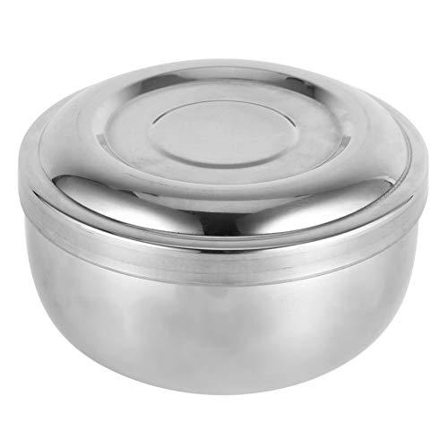 Rasierschale Mit Deckel, Männer Nassrasur Seife Becher Schüssel Silber Metall Gesichtspflege Gesundheitswesen Rasur Werkzeug