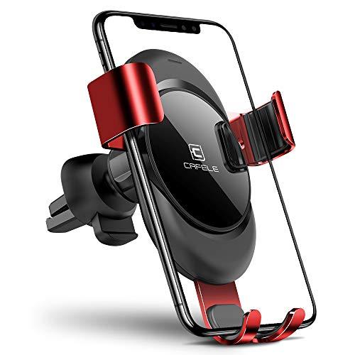 CAFELE Handyhalterung KFZ Lüftung Halter New Tech Einhandbedienung Sicher und Bequemer Beim Fahren Für Auto Lüftungsschlitz (Rot)
