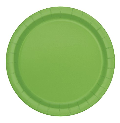 Unique Party 31374 – Paquet de 8 Assiettes en Carton – 18 cm – Vert Citron