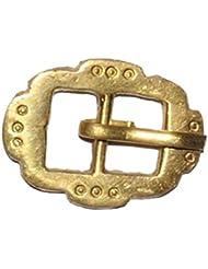 Hebilla para Cinturón Doble Oval con Inscripciones, Hebilla para cinturón en bronce, Hebillas medievales para cinturón