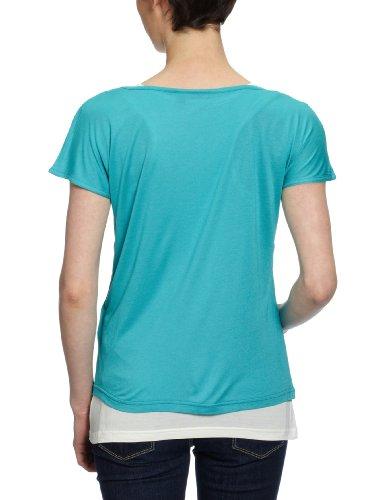 MEXX - Maglietta, collo a v, manica corta, donna Blu (Blau (445))