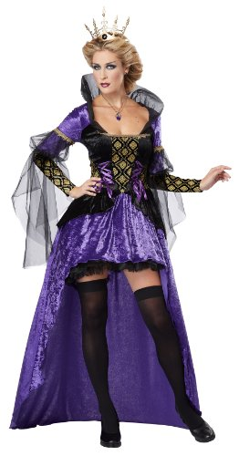 Generique - Prachtvolle Königin märchenhaftes Damenkostüm lila-schwarz M