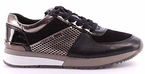 Michael Kors Sneakers Allie Trainer Black Gun Noir