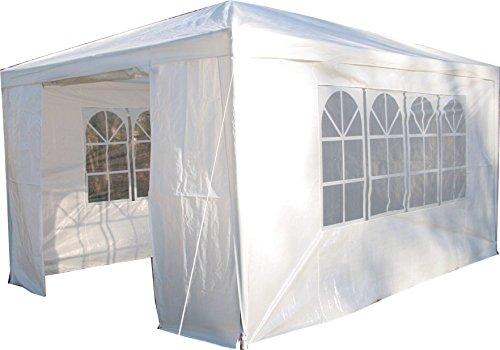 Airwave Pavillon 3 x 4 m, weiß, Inklusive 1 x einzigartig gestalteter Windstangen für besondere Stabilität