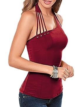 La Mujer Elegante Vendaje Bodycon Vestido Uno Hombro Tank Top T - Shirt Blusas Tops