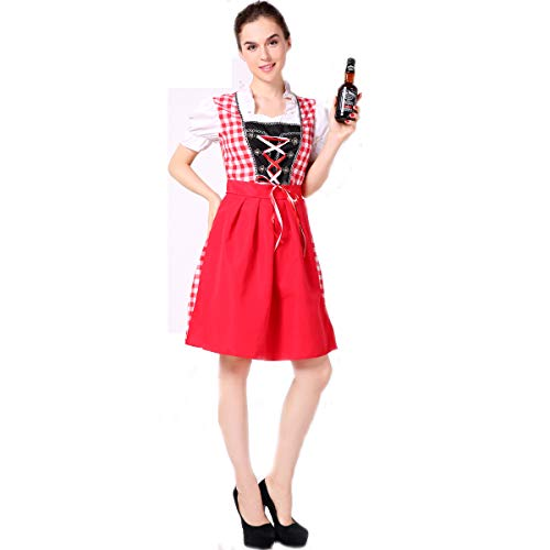 (Special Bridal Frauen-Bier-Rosa-Kostüm Halloween Fancy German Oktoberfest Sexy Beer Girl Costume)