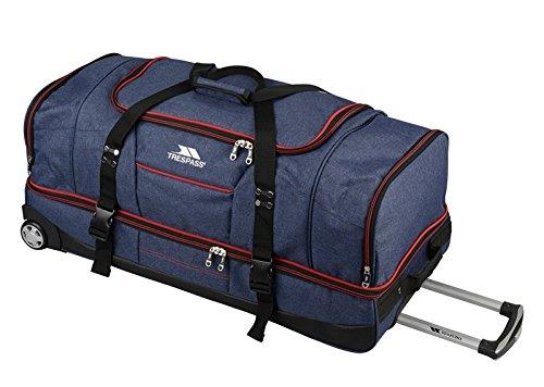 Trespass Galaxy Reise- / Sporttasche mit Rädern, Doppeldecker blau/rot 72cm