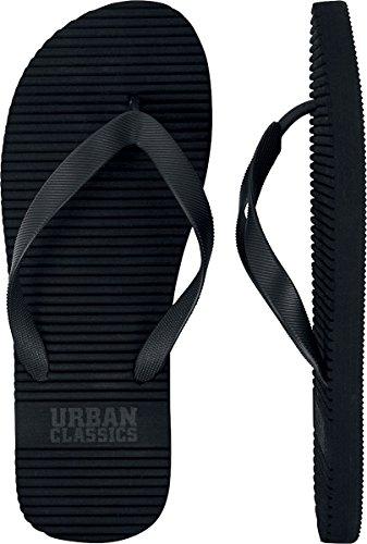 Urban Classics Unisex-Erwachsene Basic Slipper Zehentrenner, Schwarz (Black), 38 EU