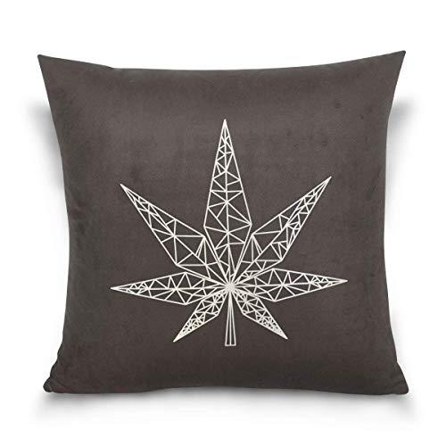 VinMea Marijuana - Funda de cojín Cuadrada Decorativa para ...