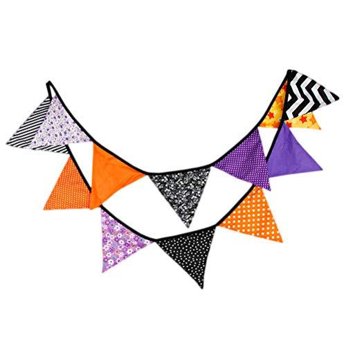 g Banner Vintage Baumwolle Dreieck Flagge Girlanden für rustikale Hochzeit Geburtstag Halloween Party Home Decoration ()