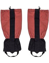 Lantelme 6061Guêtres Paire de 45cm Bordeaux–Adultes Guêtres étanche pour la randonnée–Escalade ou neige extérieur randonnée