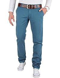 TAZZIO pantalon à pinces worker slim pour homme différents coloris et tailles disponibles -  Bleu - 29
