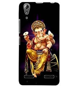 ColourCraft Lord Ganesha Design Back Case Cover for LENOVO A6000