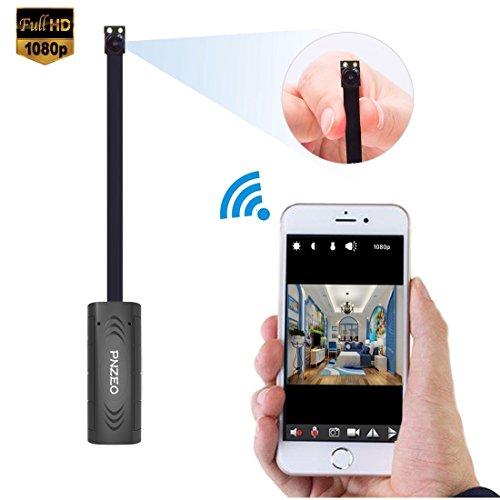 Überwachungskamera PNZEO V1 Mini Kamera 1080P WIFI Kamera unterstützt 1080P Überwachungsvideo, unterstützt für Haussicherheit, Geschäftssicherheit, Fabriksicherheit, Bürosicherheit usw (8g Speicherkarte Der Kamera)