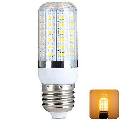YangR* E27 7W 56x5730SMD 620LM 3000-3500K warmweiß LED Lampe Mais (220-240 V) Dusk To Dawn Glühbirne Adapter