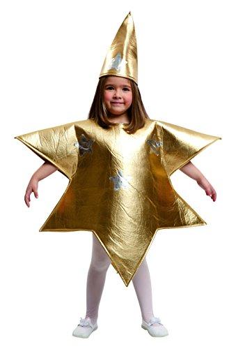 Imagen de my other me  disfraz de estrella para niña, 5 6 años, color dorado viving costumes 204392