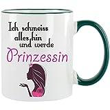 """'""""Ich schmeiss Alles Hin y voy a Princesa Taza de café con diseño, impresa Taza con frases o imágenes"""